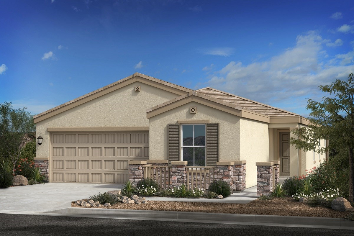New Homes in Phoenix, AZ - 16th Street Enclave Plan 1849 Elevation C (with Stone)