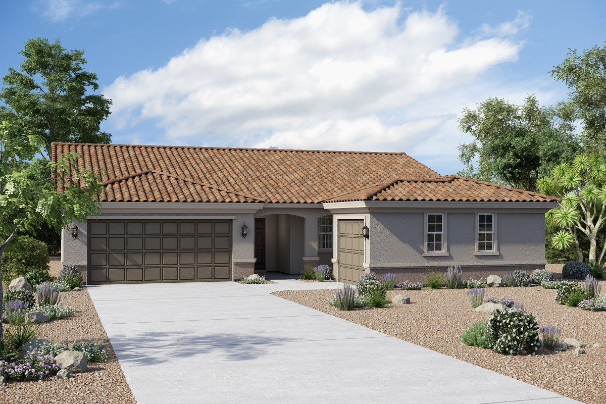 New Homes in Buckeye, AZ - Arroyo Seco Plan 1860 Elevation B (Option 3rd car garage)