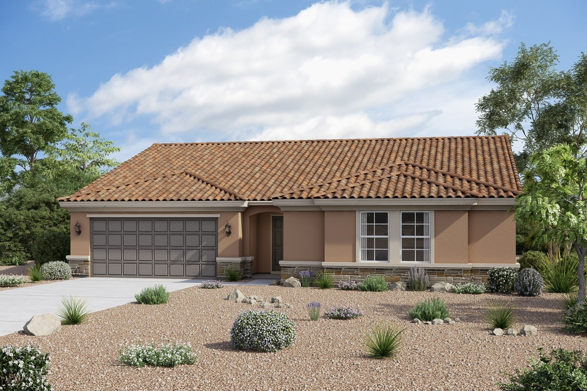 New Homes in Buckeye, AZ - Arroyo Seco Plan 2301 Elevation B (Option with stone)