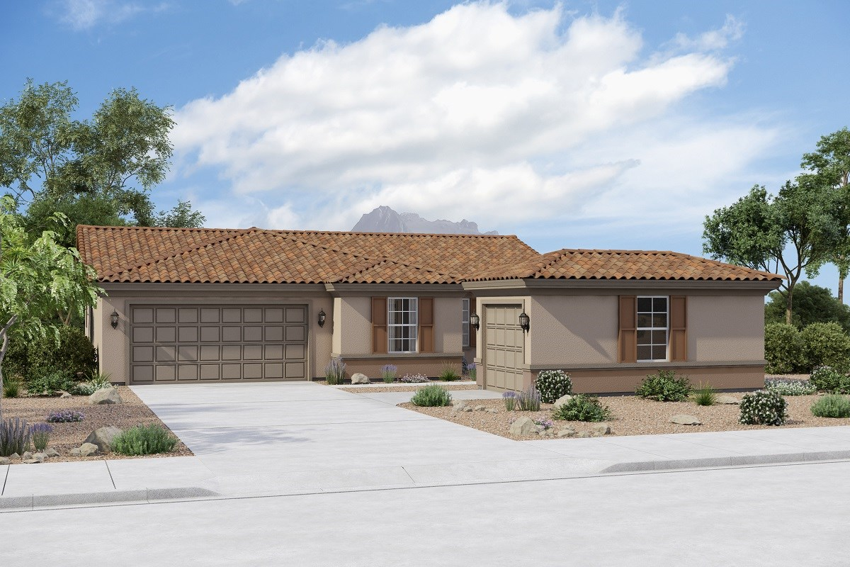 New Homes in Buckeye, AZ - Arroyo Seco Plan 1708 Elevation B (Option 3rd Car Garage)