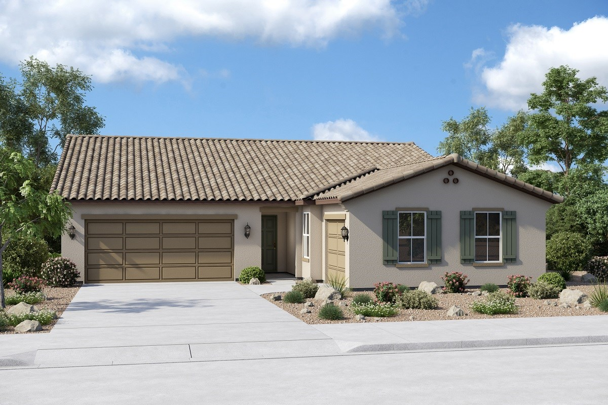 New Homes in Buckeye, AZ - Arroyo Seco Plan 2096 Elevation A (Option 3rd car garage)
