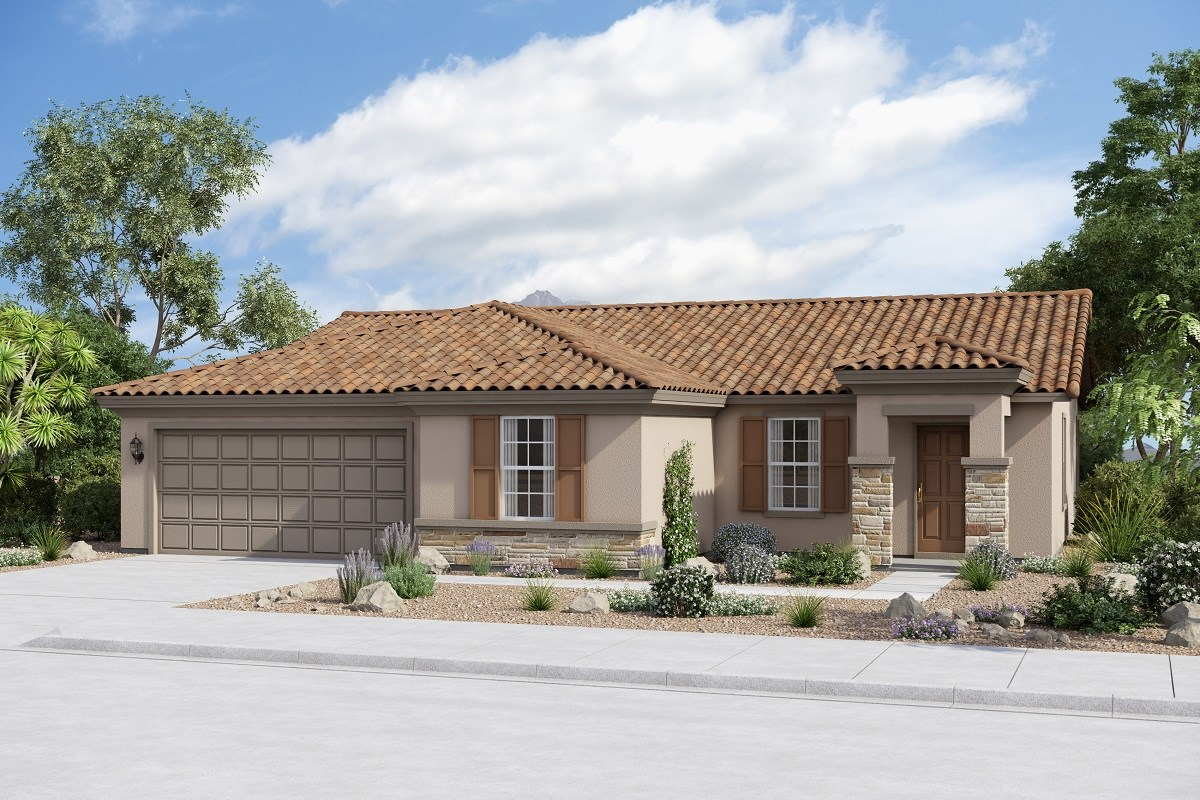 New Homes in Buckeye, AZ - Arroyo Seco Plan 1708 Elevation B (Option Stone)