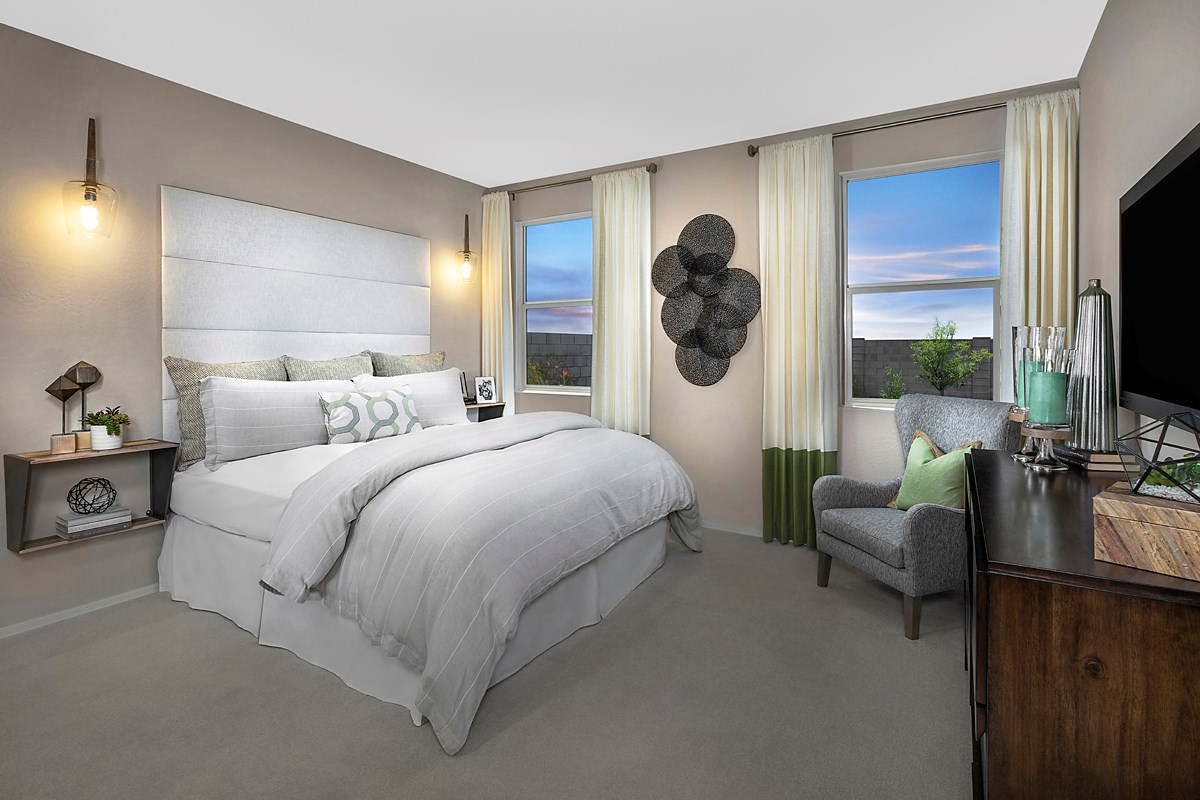 New Homes in Buckeye, AZ - Blue Horizons Enclaves Plan 1612 Master Bedroom