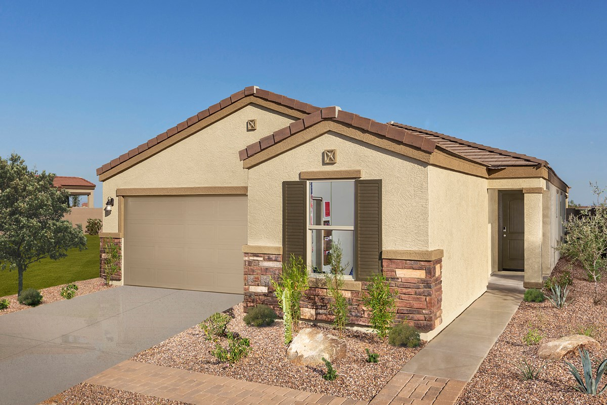 New Homes in Buckeye, AZ - Blue Horizons Traditions Plan 1849 Exterior