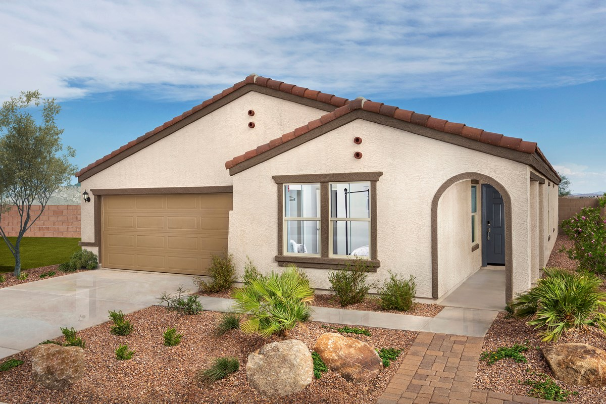 New Homes in Buckeye, AZ - Blue Horizons Enclaves Plan 1966 Exterior