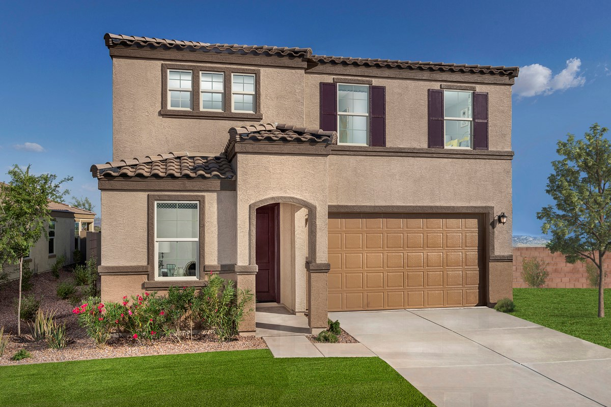 New Homes in Buckeye, AZ - Blue Horizons Traditions Plan 2358 Exterior