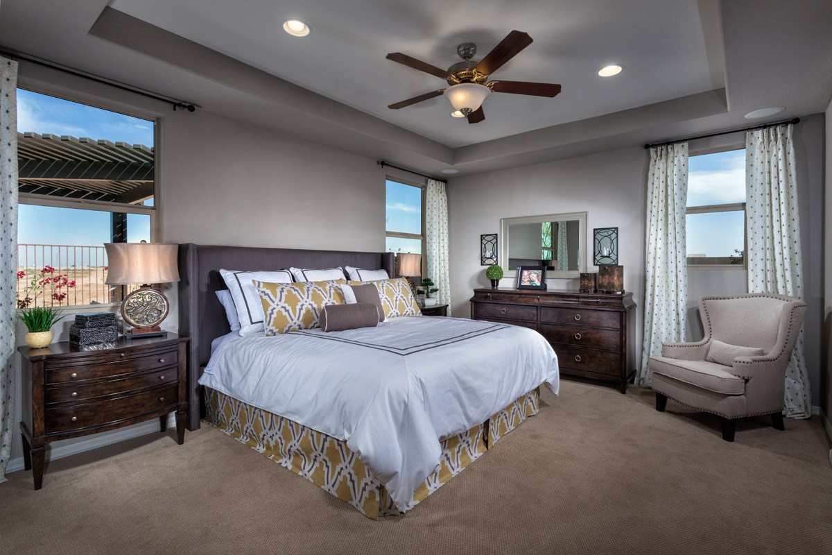 New Homes in Maricopa, AZ - Cliffrose at Desert Passage Plan 1849 Master Bedroom