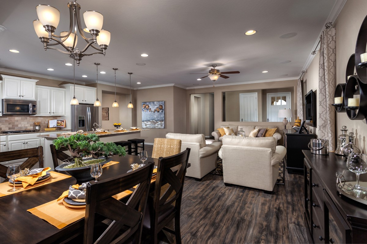 New Homes in Maricopa, AZ - Cliffrose at Desert Passage Plan 1849 Great Room