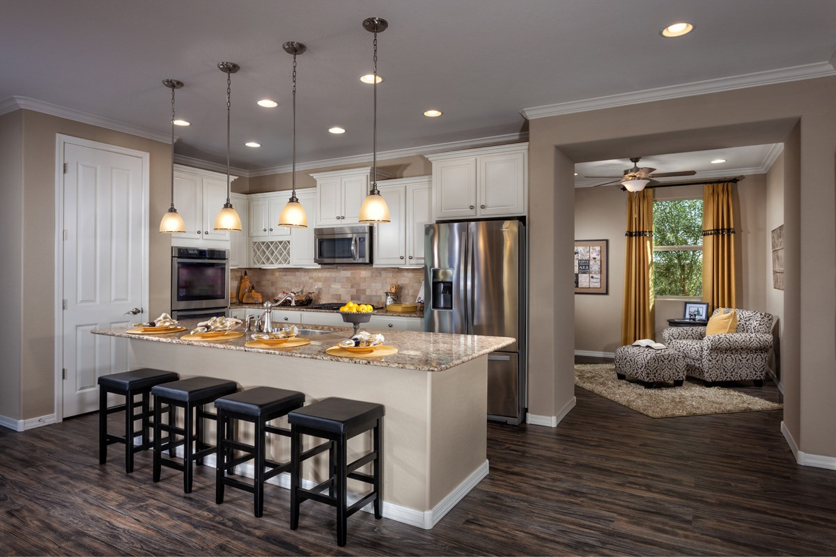 New Homes in Maricopa, AZ - Cliffrose at Desert Passage Plan 1849 Kitchen