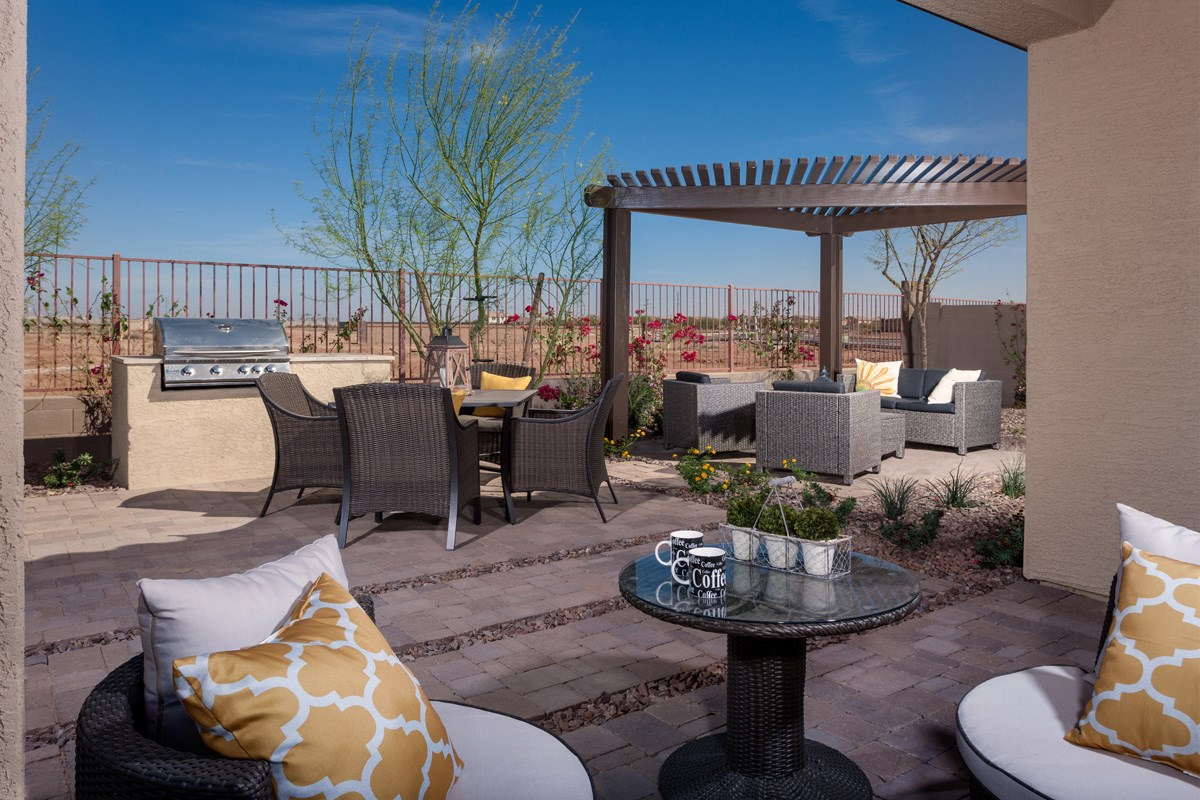 New Homes in Maricopa, AZ - Cliffrose at Desert Passage 1849 Backyard