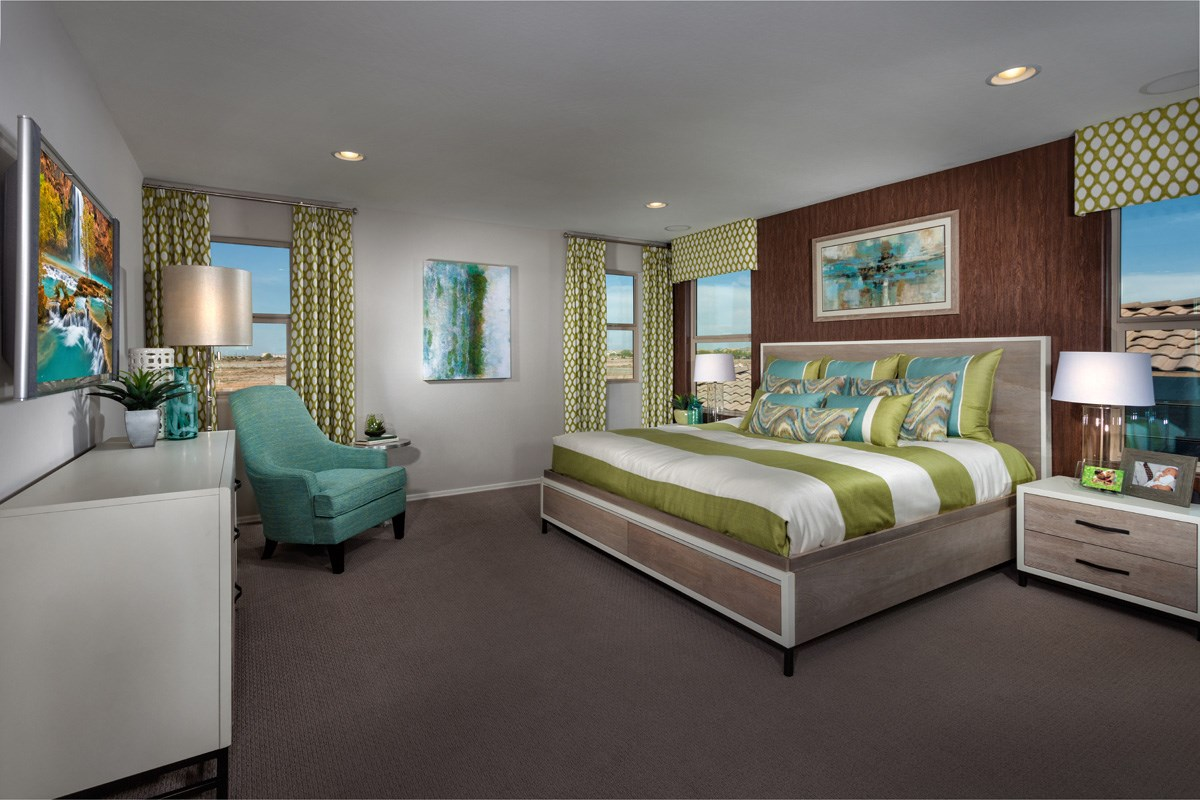 New Homes in Maricopa, AZ - Cliffrose at Desert Passage 2632 Master Bedroom