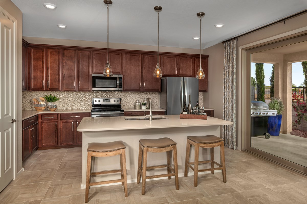 New Homes in Gilbert, AZ - Cobblestone Villas Plan 1711 Kitchen