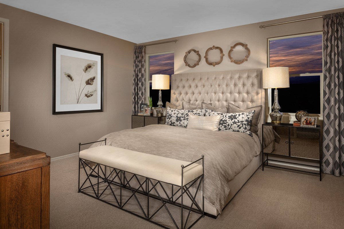 New Homes in Gilbert, AZ - Cobblestone Villas Plan 1711 Master Bedroom