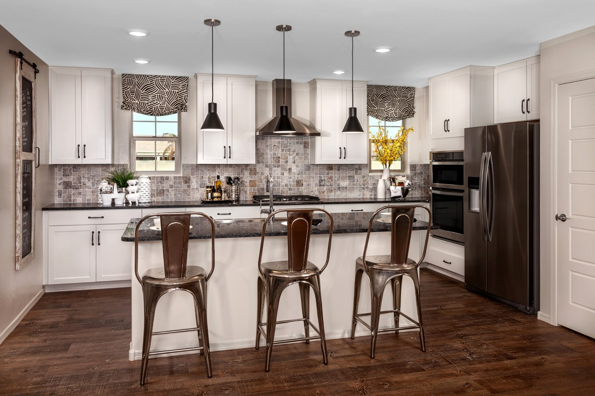 New Homes in Gilbert, AZ - Cobblestone Villas Plan 2267 Kitchen
