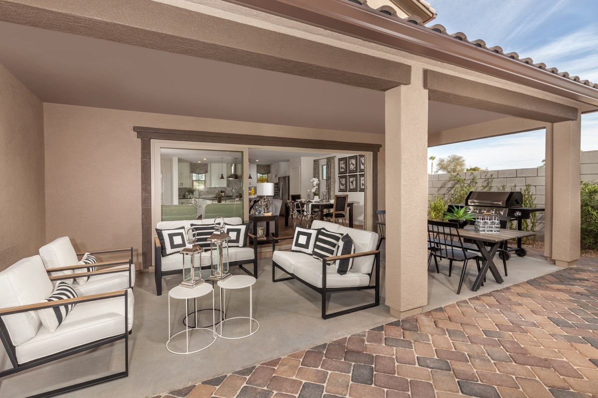 New Homes in Gilbert, AZ - Cobblestone Villas Plan 2267 Patio
