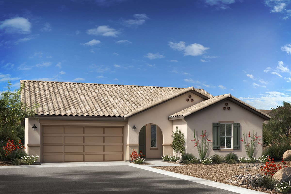 Plan 1588 new home floor plan in cobblestone villas by kb home grand opening new homes in gilbert az cobblestone villas plan 1588 elevation a rubansaba