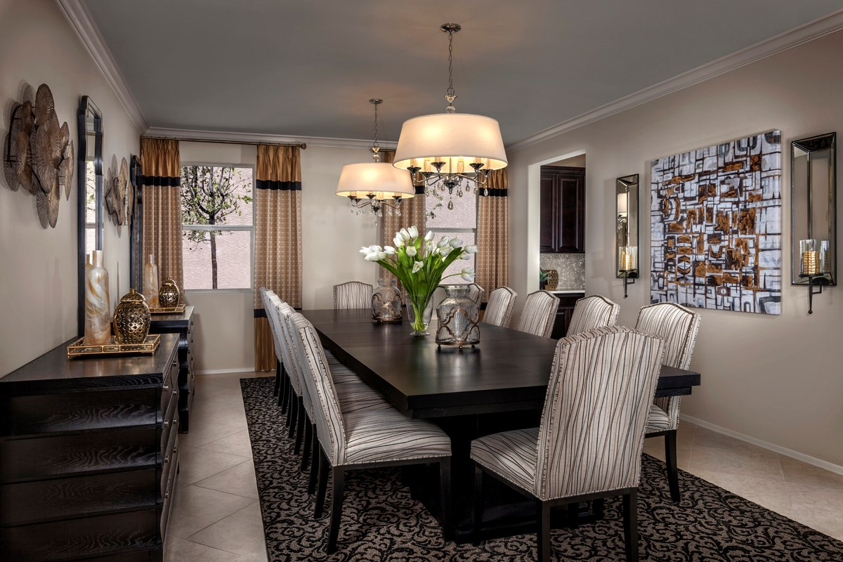New Homes in Mesa, AZ - Copper Crest Traditional Collection Plan 2543 Dining Room