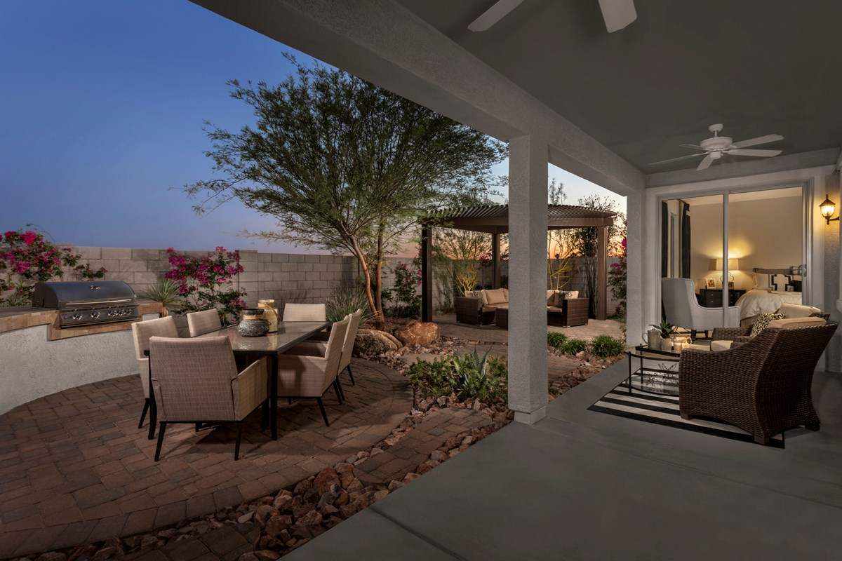 New Homes in Mesa, AZ - Copper Crest Traditional Collection Plan 2543 Patio