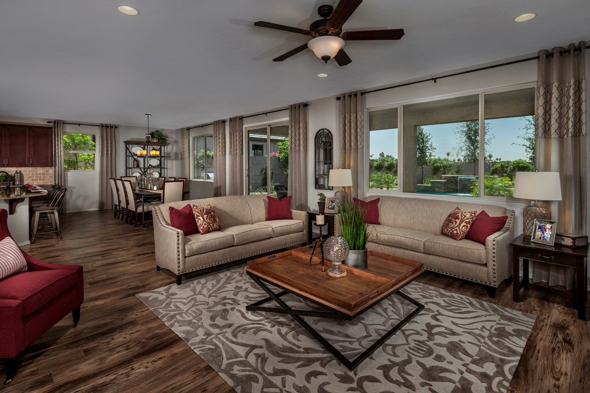 New Homes in Mesa, AZ - Copper Crest Traditional Collection Plan 2849 Great Room