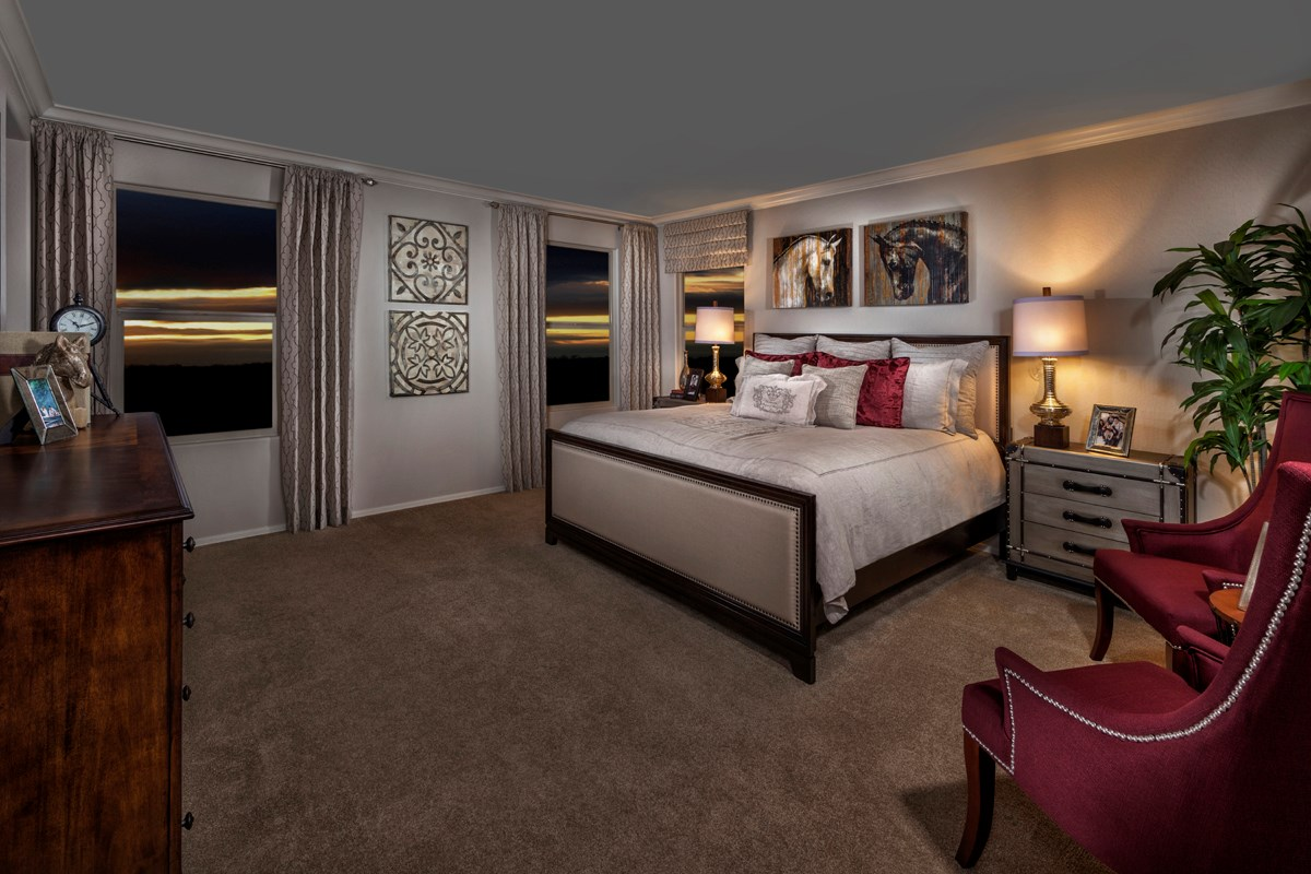 New Homes in Mesa, AZ - Copper Crest Traditional Collection Plan 2849 Master Bedroom