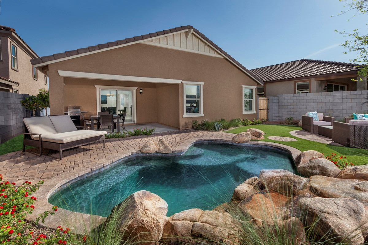 New Homes in Mesa, AZ - Copper Crest Traditional Collection Plan 1678 Backyard