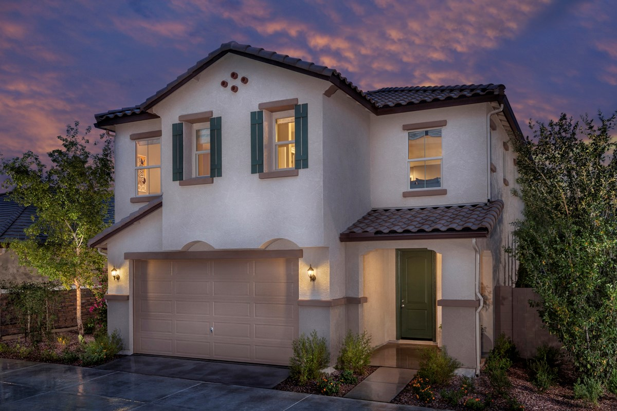 New Homes in Mesa, AZ - Copper Crest Villas Collection Plan 1903 Front Exterior