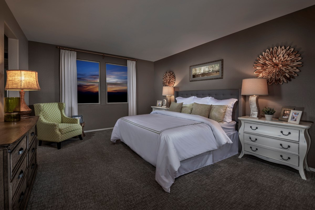 New Homes in Mesa, AZ - Copper Crest Villas Collection Plan 1589 Master Bedroom