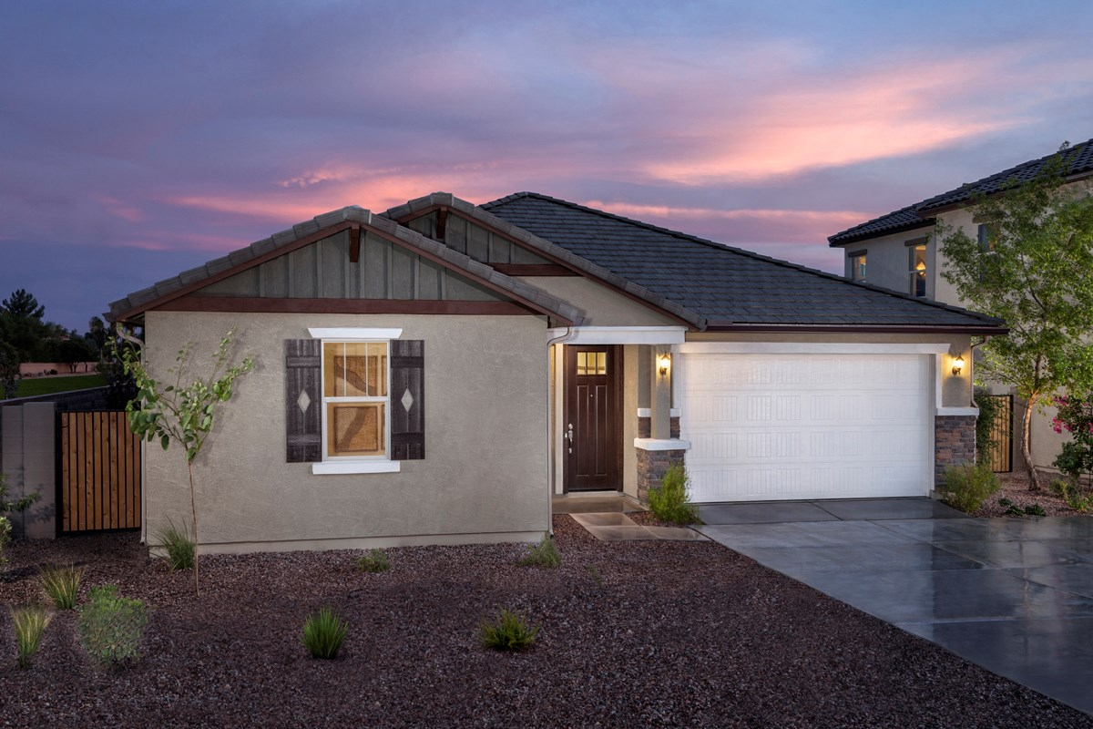 New Homes in Mesa, AZ - Copper Crest Villas Collection Plan 1589 Front Exterior
