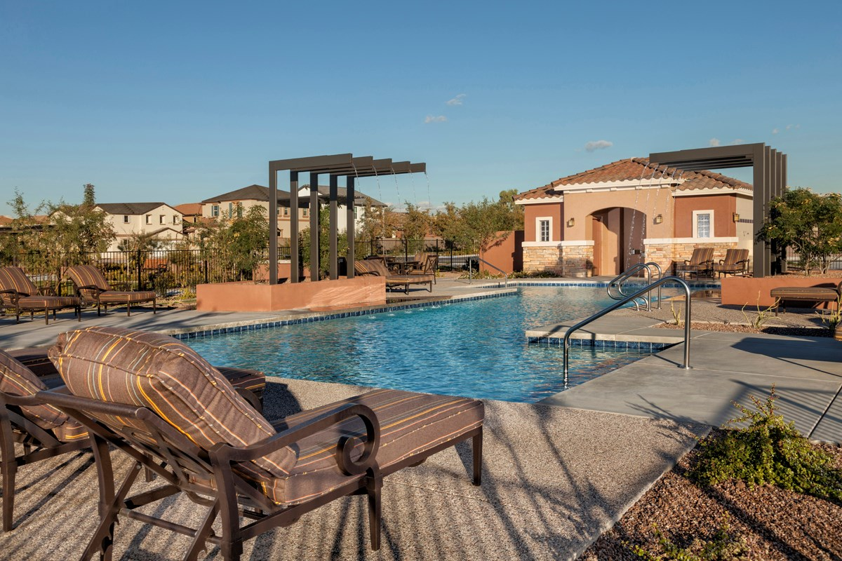 New Homes in Mesa, AZ - Copper Crest Traditional Collection Pool