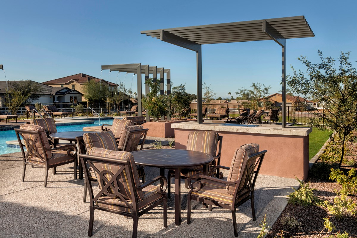 New Homes in Mesa, AZ - Copper Crest Traditional Collection BBQ Area