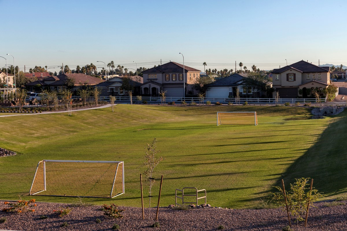 New Homes in Mesa, AZ - Copper Crest Traditional Collection Soccer Field