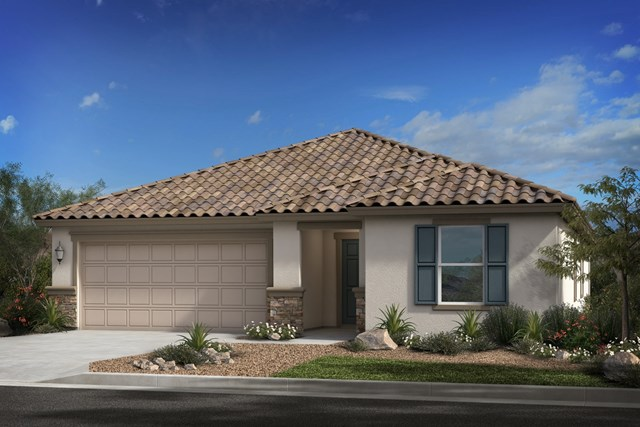 New Homes in Surprise, AZ - Plan 1888 Elevation B (with stone)