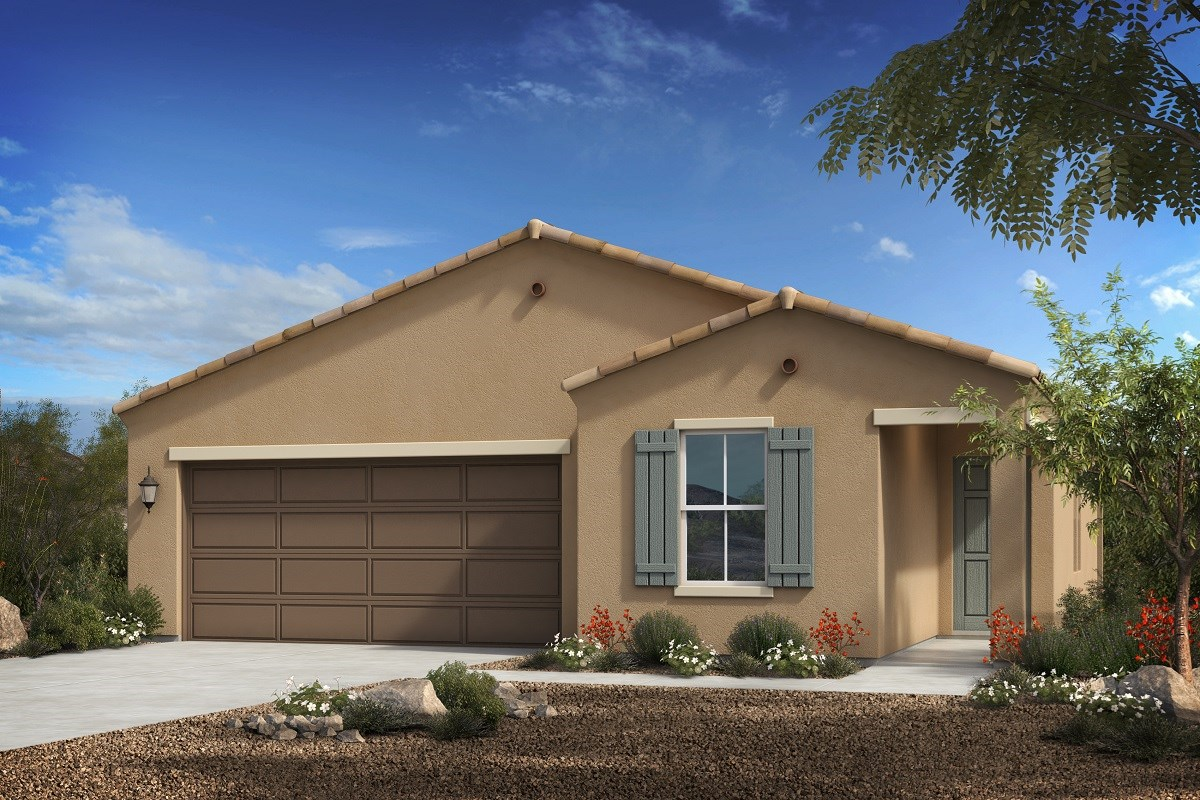 New Homes in Florence, AZ - Crestfield Manor Plan 1547 Elevation A
