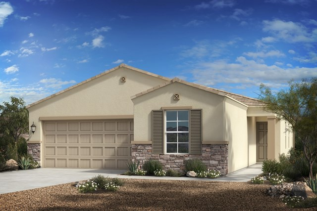 New Homes in Florence, AZ - Plan 1849 Elevation C (with Stone)