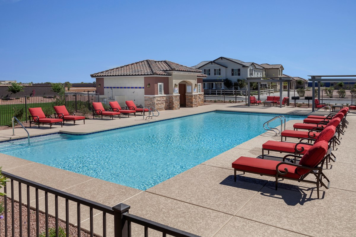 New Homes in Mesa, AZ - Dahlia Pointe Villas  Community Pool