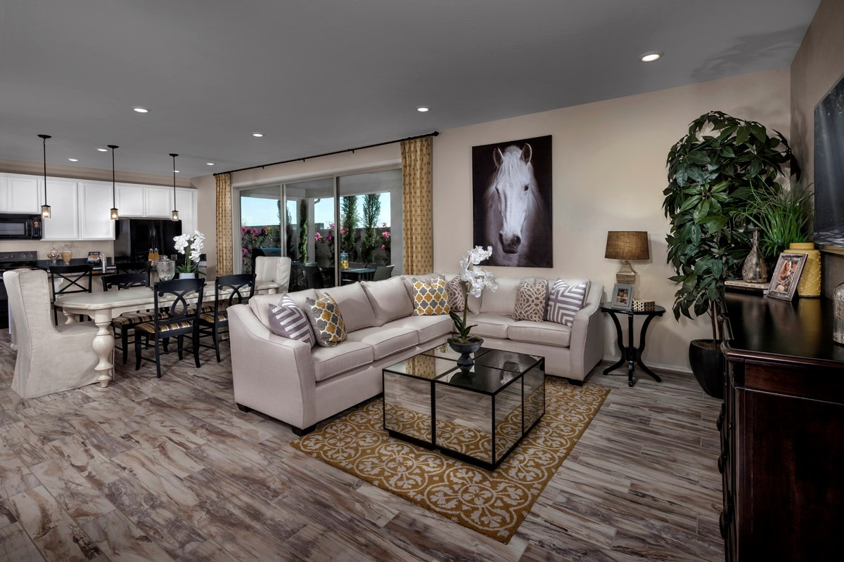 New Homes in Mesa, AZ - Dahlia Pointe Villas  Plan 1712 Great Room