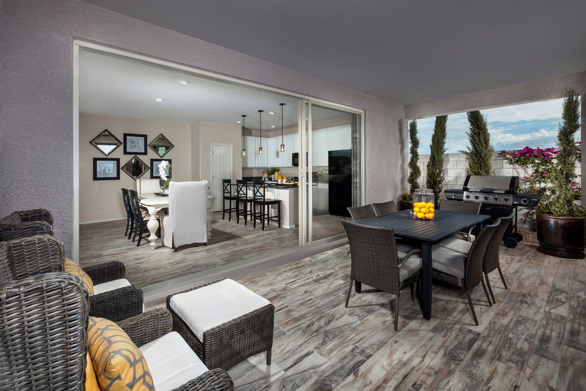 New Homes in Mesa, AZ - Dahlia Pointe Villas  Plan 1712 Patio Open