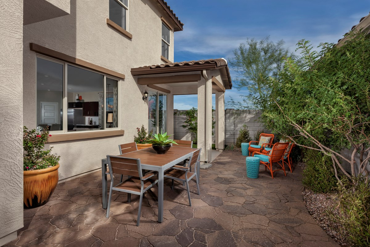 New Homes in Mesa, AZ - Dahlia Pointe Villas  Plan 1903 Patio