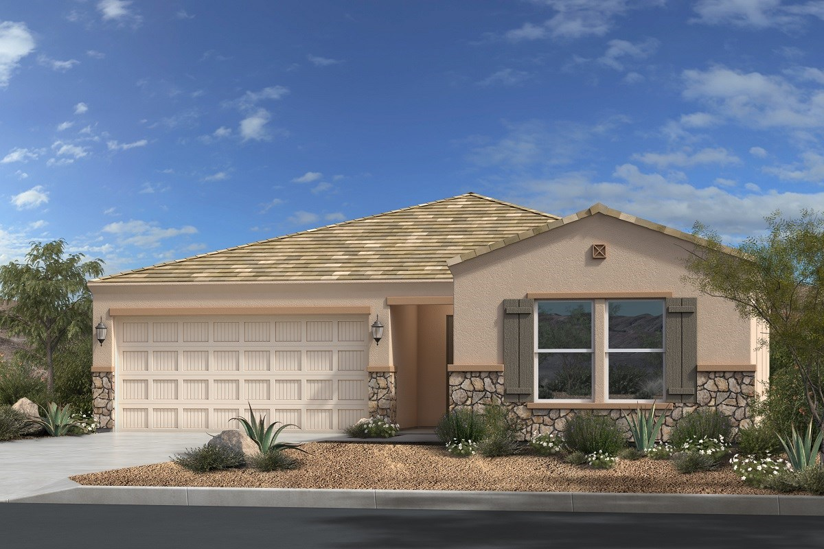 New Homes in Gold Canyon, AZ - Entrada Del Oro Plan 1790 Elevation C (With Stone)