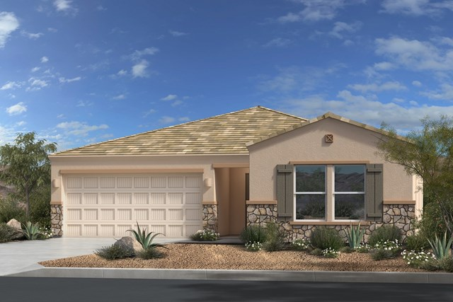 New Homes in Gold Canyon, AZ - Plan 1790 Elevation C (with Stone)