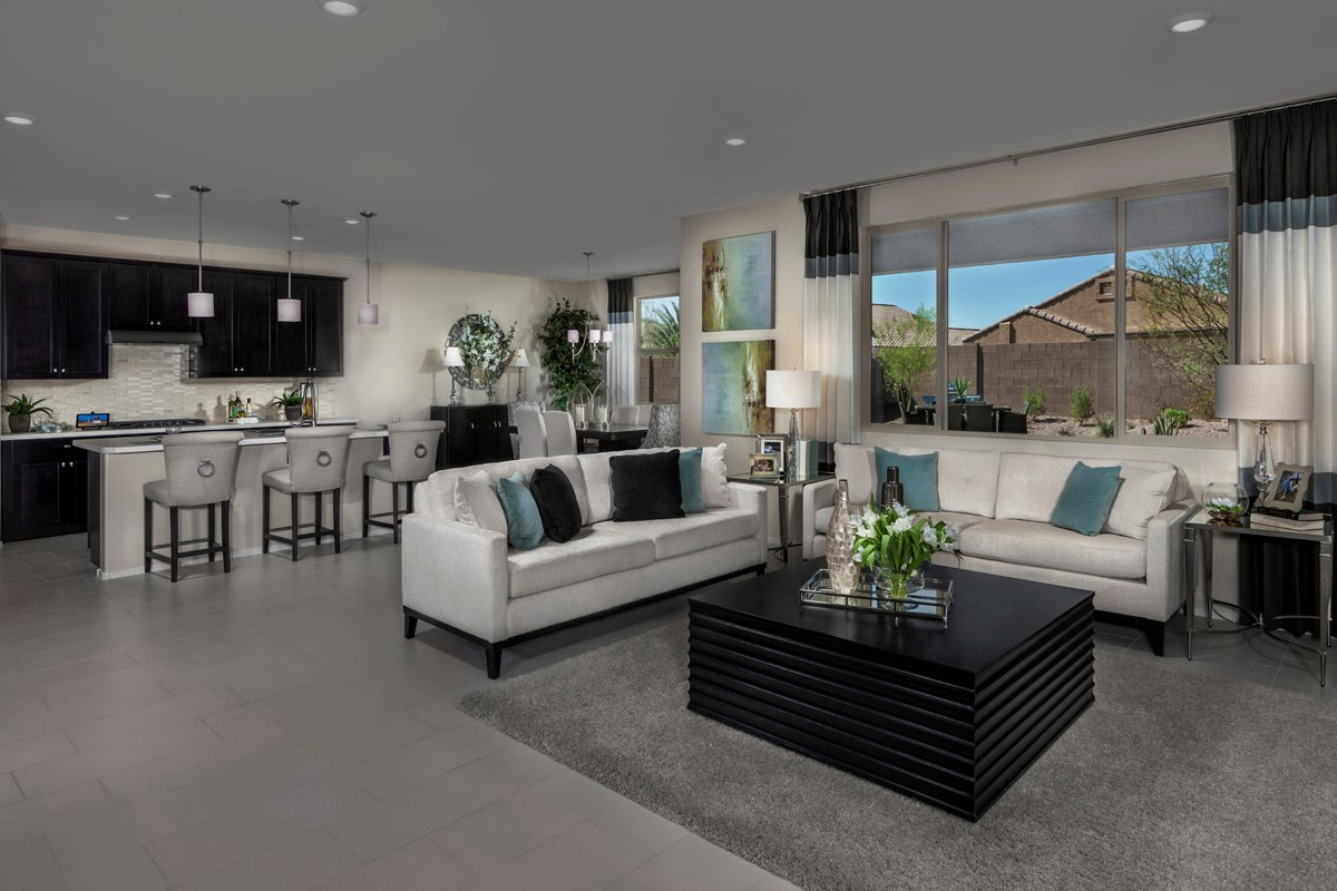New Homes in Maricopa, AZ - Homestead Plan 2347 Great Room