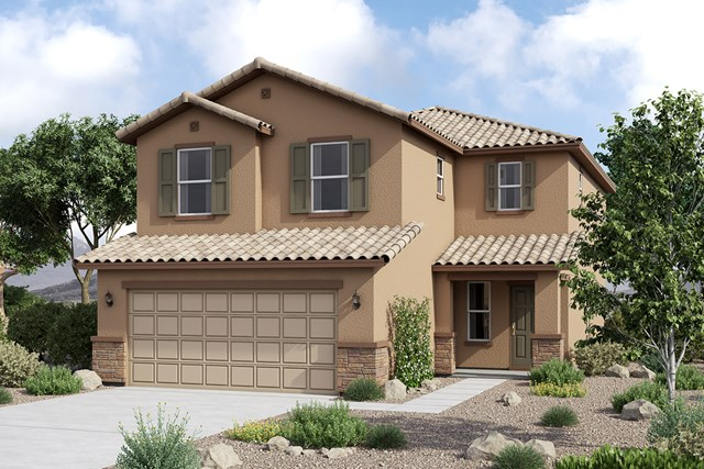 New Homes in Maricopa, AZ - Elevation C (With Stone)