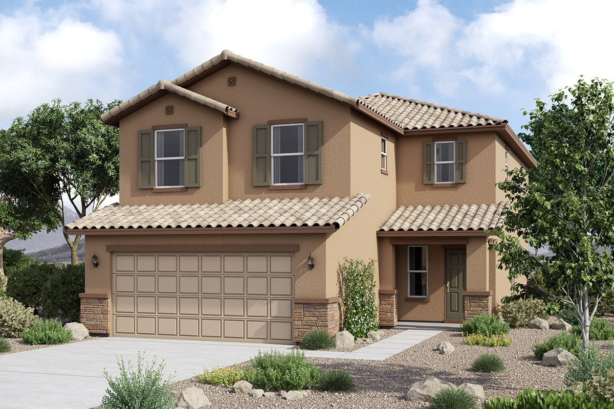 New Homes in Maricopa, AZ - Juniper at Desert Passage Plan 2177 Elevation C (With Stone)