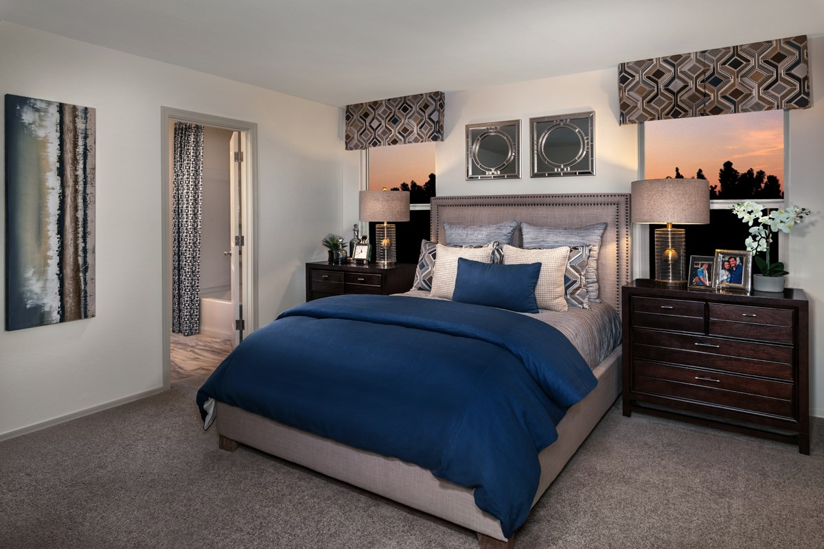 New Homes in Maricopa, AZ - Juniper at Desert Passage Plan 1573 Master Bedroom