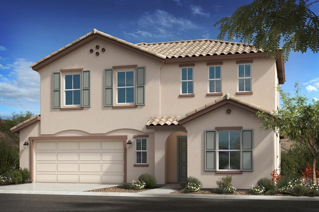 New Homes in Goodyear, AZ - Plan 2561 Elevation A Extended Garage