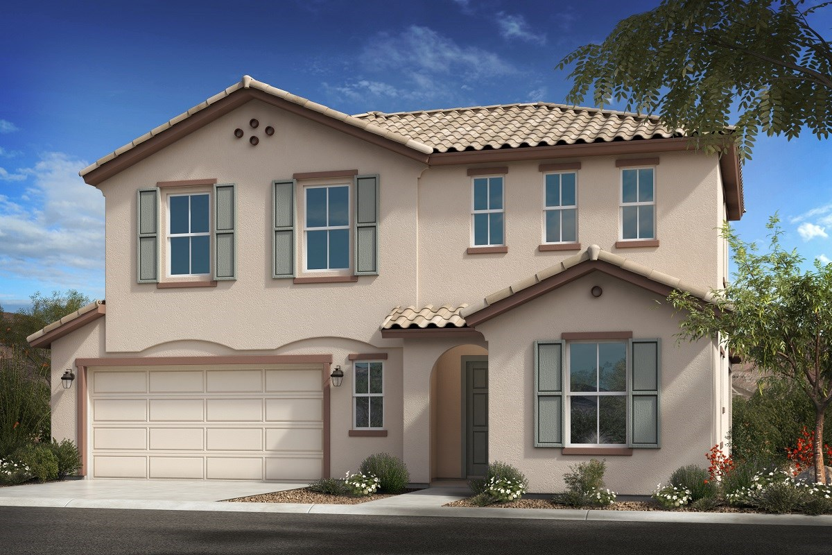 New Homes in Goodyear, AZ - La Ventilla III Plan 2561 Elevation A Extended Garage