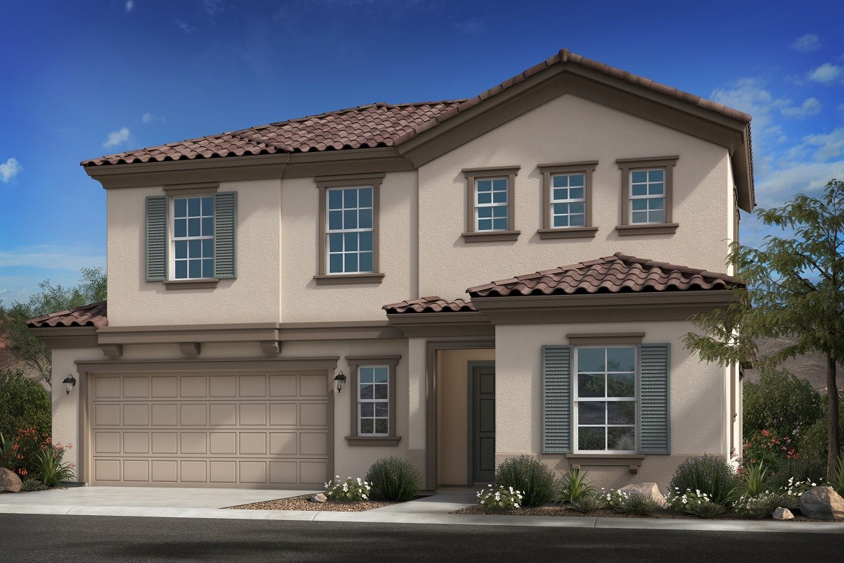 New Homes in Goodyear, AZ - La Ventilla III Plan 2561 Elevation B Extended Garage