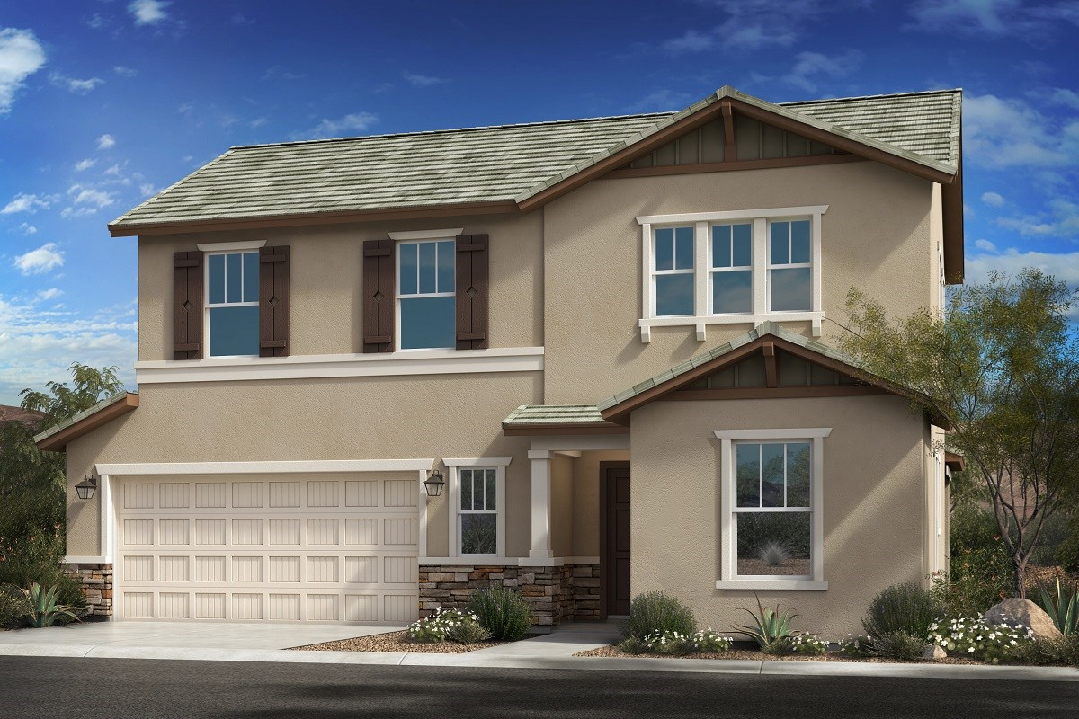 New Homes in Goodyear, AZ - La Ventilla III Plan 2561 Elevation D Extended Garage