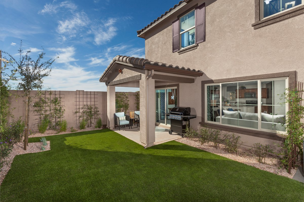 New Homes in Goodyear, AZ - La Ventilla Villas Plan 2270 Patio