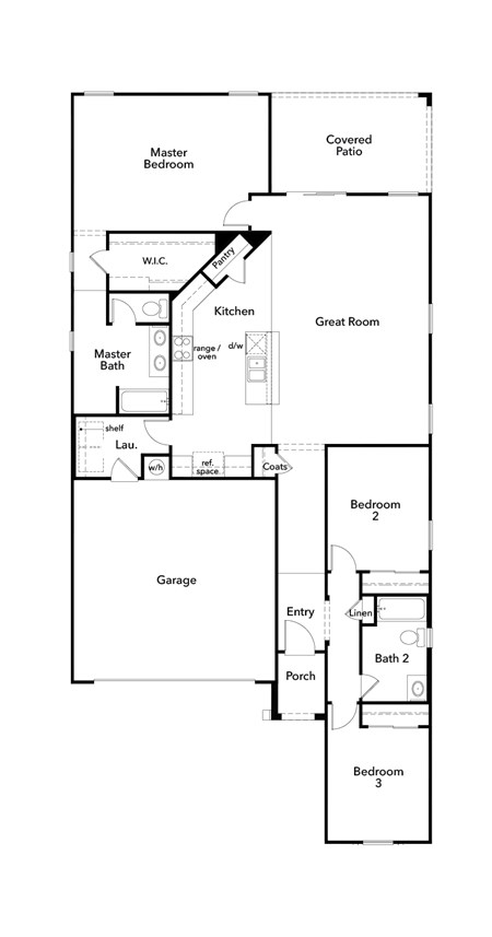 New Homes in Gilbert, AZ - Plan 1700, First Floor